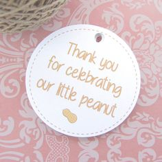 Little peanut baby shower tags 30  Thank you by DazzlingDaisiesCo