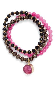 Panacea Set of 3 Beaded Bracelets available at #Nordstrom