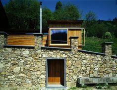 Gasparin & Meier - Sauna, Drautal Photos (C) Margherita Spiluttini. Garage Doors, Cabin, House Styles, Preserve, Outdoor Decor, Photos, Design, Home Decor, Chow Chow