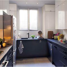Meuble de cuisine noir DELINIA Mat Edition