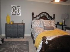 Yellow/Grey Bedroom