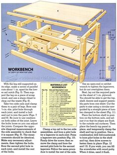 #1309 Easy Workbench Plans - Workshop Solutions