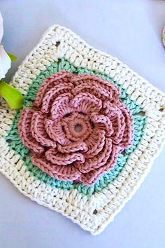 Crochet Tutorial Moss Crochet Stitch, Crochet Stitches Free, Knitting Stiches, Crochet Granny, Free Crochet, Crochet Bag Tutorials, Crochet Videos, Childrens Crochet Hats, Step By Step Crochet
