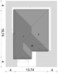 Projekt domu SD Patagonia D CE - DOM - gotowy koszt budowy Patagonia, Sd, House Plans, How To Plan, Furniture, Home Decor, Cunha, Cottage, Floor Layout