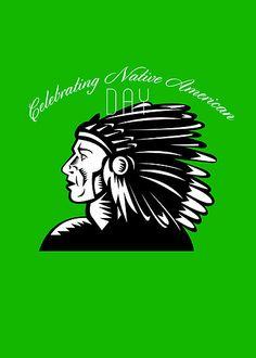 Native American Day Remembrance Retro Greeting Card by patrimonio