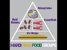 Mardi Gras food groups. Haha! So true!!  I love Louisiana! #Creole