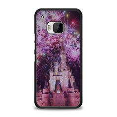 Disney Castle Fireworks Design On Nebula HTC One M9 Case | yukitacase.com
