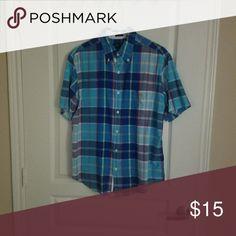99dd69ca80b69 Mens U. POLO ASSN short sleeve button down shirt This is a blue plaid short  sleeve button down shirt size L. Shirts Casual Button Down Shirts