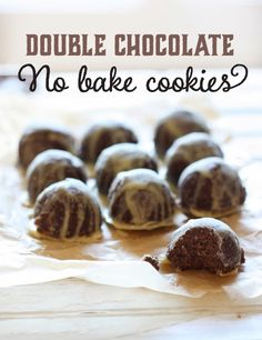 Double Chocolate No-Bake Cookies (paleo, gluten-free, peanut-free)