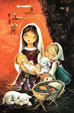 Ilustraciones Vintage Constanza de Navidad