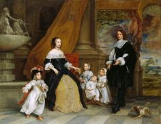 The Family of Jan-Baptista Anthoine Creator: Gonzales Coques (Antwerp 1614 - Antwerp 1684) Signed and dated 1664 Materials:    Oil on copper