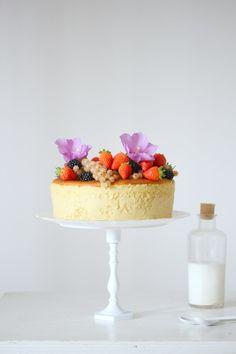 ... hot milk sponge cake ...