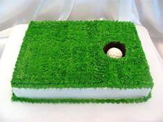 golf hole cake