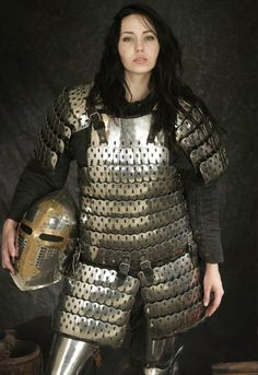 Image 26815: armor brunette helmet lamellar long_hair photo