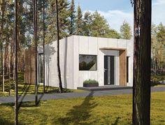 Dom modułowy, nowoczesny - BoXi1. Dom do 35m2. CONTiBOX Architecture, Tiny Houses, Plants, Interiors, House, Arquitetura, Small Homes, Little Houses, Decoration Home