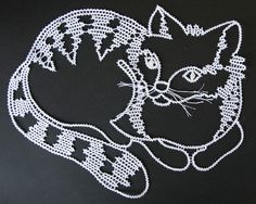white cat by iCipka on Etsy