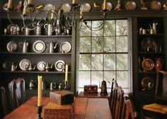 WOWWWWW - love the pewter AND I have shelves that mimic this on either side of my window.  Awesome idea!!!!