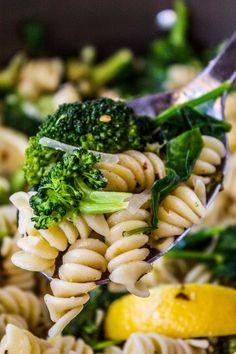 20 Minute Lemon Broccoli Pasta Skillet from The Food Charlatan
