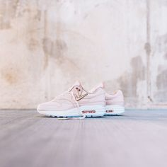 low priced a4788 5739b Womens Nike Air Max 1 PRM - Particle BeigeParticle Pink-Summit White –