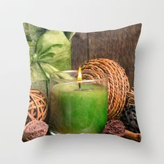 Relaxing Spa Throw Pillow by Edward M. Fielding - $20.00