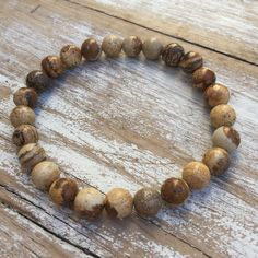 FEARLESS MEN'S BRACELET - PICTURE JASPER