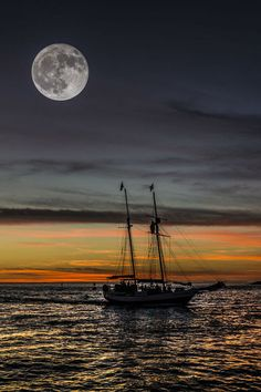See original : The sailboat and the moon… by Braulio Cosme / Sombra Lunar, Moon Dance, Shoot The Moon, Moon Shadow, Sun Moon Stars, Moon Pictures, Good Night Moon, Moon Rise, Moon Magic