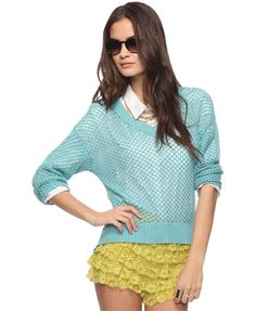 Crochet High-Low Sweater | FOREVER21 - 2000035257