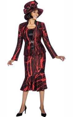 d5b185e2cfa5b4 Susanna 3872 - Three Piece Peplum Skirt Outfit With Printed Design - Fall  2018 - ExpressURWay