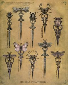 insects art-nouveau-art-grafico