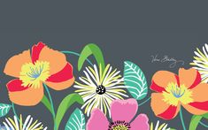 Vera Bradley Desktop Wallpaper 'Jazzy Blooms' (Spring 2013)