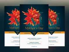 Mothers Day Flyer Template by Godserv Designs on @creativemarket