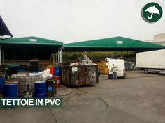 #tettoie in #pvc #affiancate per la #copertura dello #stoccaggio #rifiuti #speciali