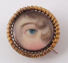 "Eye miniature, c. 1800. Images such as this, today referred to as ""lover's…"