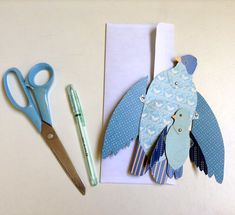DIY Mom and Baby Blue Bird Fold Out Wing