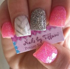 Prom nails (lots of glitter) Get Nails, Prom Nails, Fancy Nails, Love Nails, How To Do Nails, Fabulous Nails, Gorgeous Nails, Pretty Nails, Nagel Blog