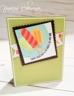 #TGIFC94 Card Sketch Stampin' Up! Sweet Treats by Jeanna Bohanon | I hope your day is as sweet as you are