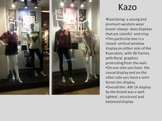 Kazo display ....the floral frames are really eye catching love the idea