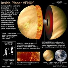 Random fact: Venus takes 243 Earth days to rotate on its axis. It takes 225 Earth days to orbit the sun. Its day is longer than its year!