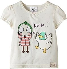 Shop Sarah & Duck® S&D Girl's Hullo Short Sleeve T-Shirt - Cotton BBC Official Merchandise Months). Origami Girl, Sarah Duck, Baby Girl Wishes, Little Girl Birthday, 2nd Birthday, Birthday Ideas, Girl Sleeves, Pink Kids, Kids Shows
