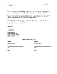 Lease proposal letter letter intent lease commercial space template amanda belleza amandajoey on spiritdancerdesigns