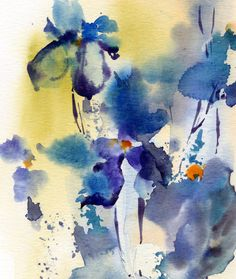 Abstract Florals Art Print Fine Art Print from Watercolor Painting Modern watercolour wall art PRINT DETAILS: printed on Epson art printer specialised in museum quality printing, on heavy weight archival (acid free, special coated, non-yellowing) paper. Each art print is a reproduction of MY ORIGINAL and ONE OF A KIND ART WORK. SIZES: please choose from the drop menu. There are standard inches sizes and A-sizes also. Custom sizes are available too, please contact me for quotation. Signed…