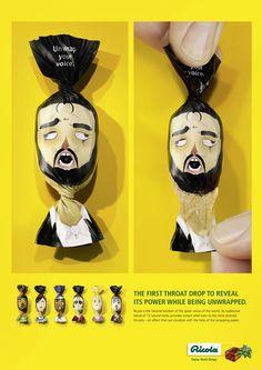 Ricola throat drops has a brilliant packaging design.