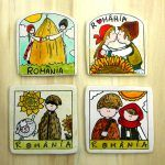 Magneti suvenir- motive traditionale   festART Coasters, Coaster