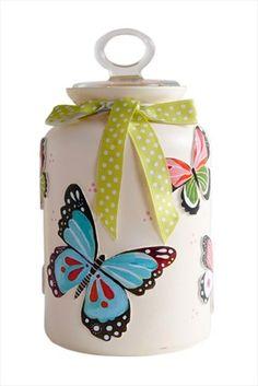 Kelebekli Büyük Kavanoz ND14002 Nesli Design | Trendyol