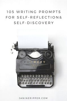 One of the hardest things about writing is coming up with a list of ideas. Here's 105 writing prompts to guide you in self-reflection and self-discovery.