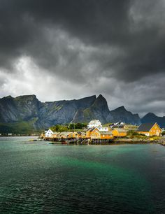 Fishermen Village in the Arctic Circle in the Lofoten islands in Norway