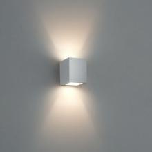 Arandela EXTERNA Facho Duplo 8066 com Vidro  Branca Com Lamp Led Mini G9 3W BQ