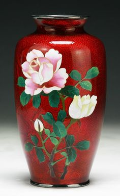 Japanese Antique Silver Ando Cloisonne Vase✖️No Pin Limits✖️More Pins Like This One At FOSTERGINGER @ Pinterest✖️