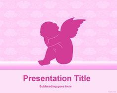 Baby Angel Background Template