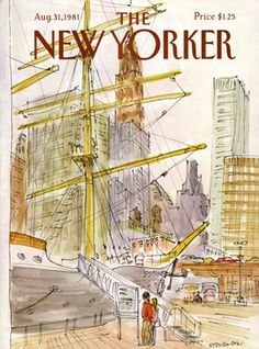 New Yorker Magazine - August 1981 - Cover by James Stevenson The New Yorker, New Yorker Covers, Cover Pages, Cover Art, Thing 1, Magazine Art, Magazine Covers, All Poster, Great Artists